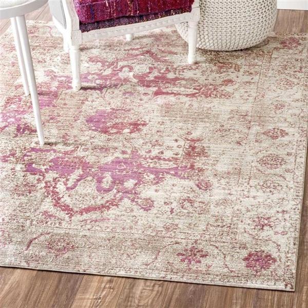 nuLOOM Sarita 5-ft x 8-ft Purple Rectangular Indoor Area Rug