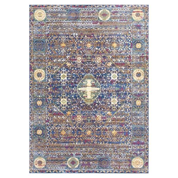 nuLOOM 5-ft x 8-ft Purple / Multi-Color Vintage Josefa Area Rug