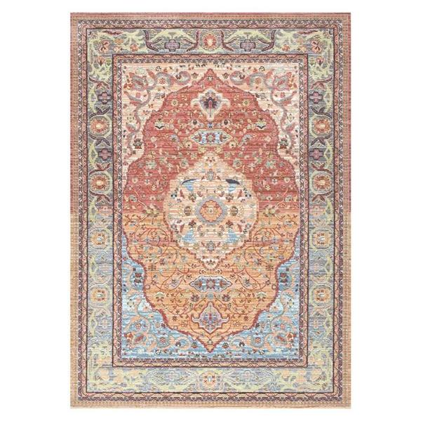 nuLOOM Barnhart 4-ft x 6-ft Rectangular Indoor Orange Area Rug