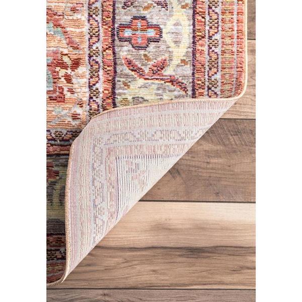 nuLOOM Barnhart 5-ft x 8-ft Rectangular Indoor Orange Area Rug