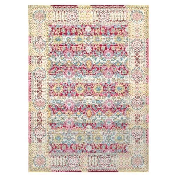 nuLOOM Modesto 4-ft x 6-ft Rectangular Cherry Pink Indoor Area Rug