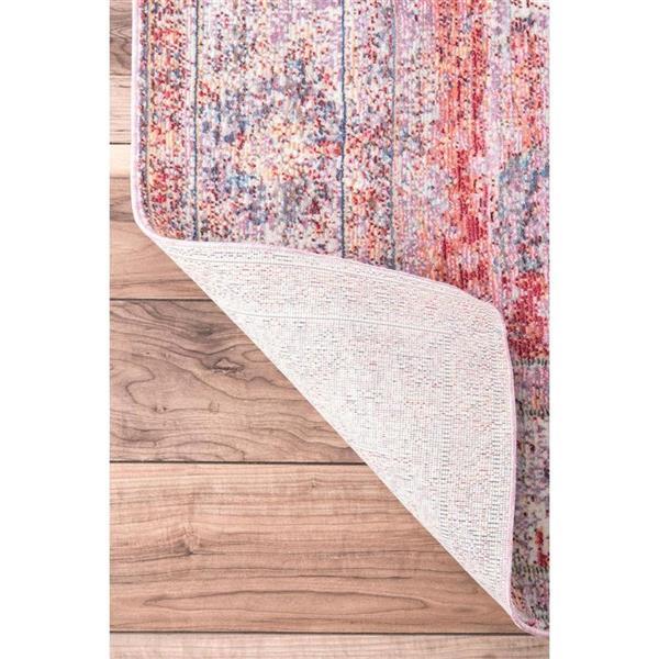 nuLOOM Elmer 5-ft x 8-ft Pink Rectangular Indoor Area Rug