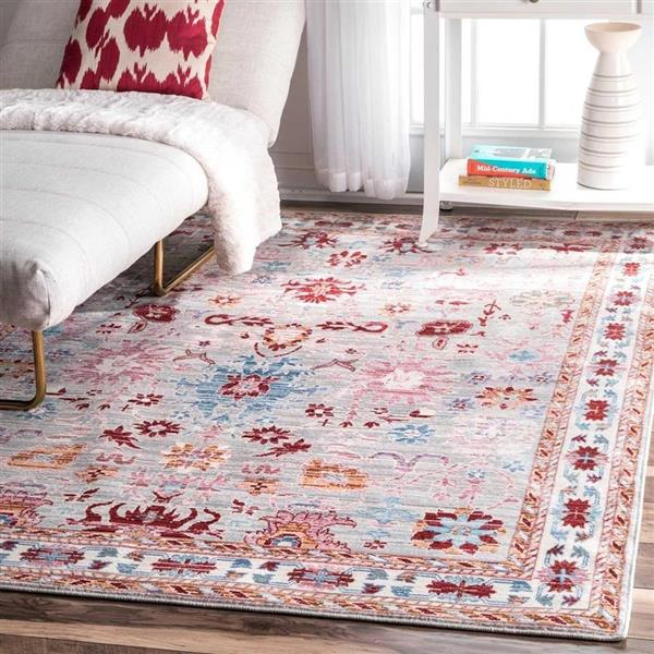 nuLOOM Delisa Multi-color 5-ft x 8-ft Area Rug