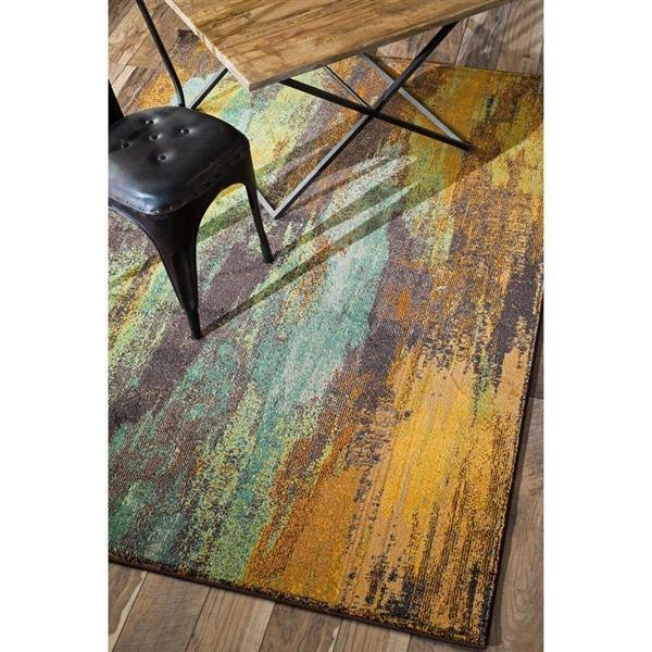 nuLOOM Norene 5-ft x 8-ft Rectangular Multicolor Indoor Area Rug