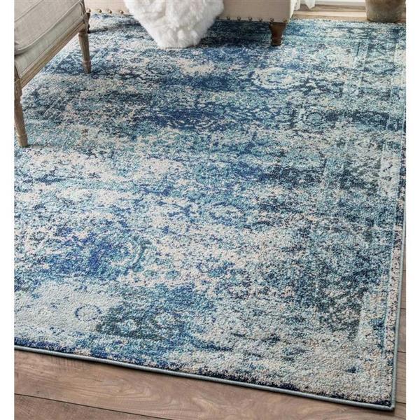 nuLOOM Shuler 5-ft x 8-ft Blue Rectangular Indoor Area Rug
