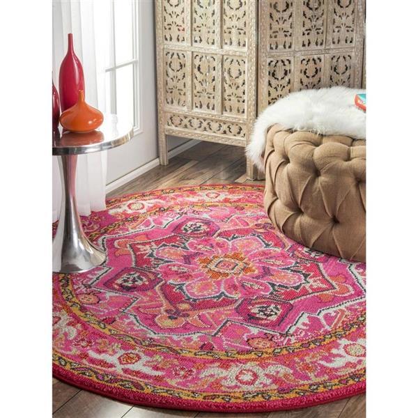 nuLOOM Mackenzie 5-ft x 8-ft Rectangular Pink Indoor Area Rug