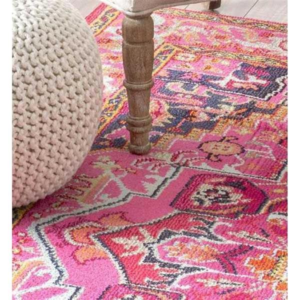 nuLOOM Mackenzie 7-ft x 9-ft Rectangular Pink Indoor Area Rug