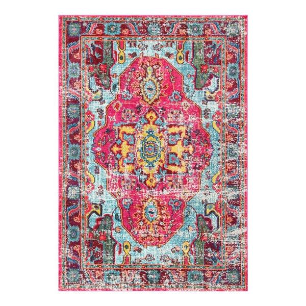 nuLOOM Corbett 5-ft x 8-ft Pink Handcrafted Area Rug