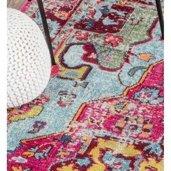 nuLOOM Corbett 7-ft x 9-ft Pink Handcrafted Area Rug