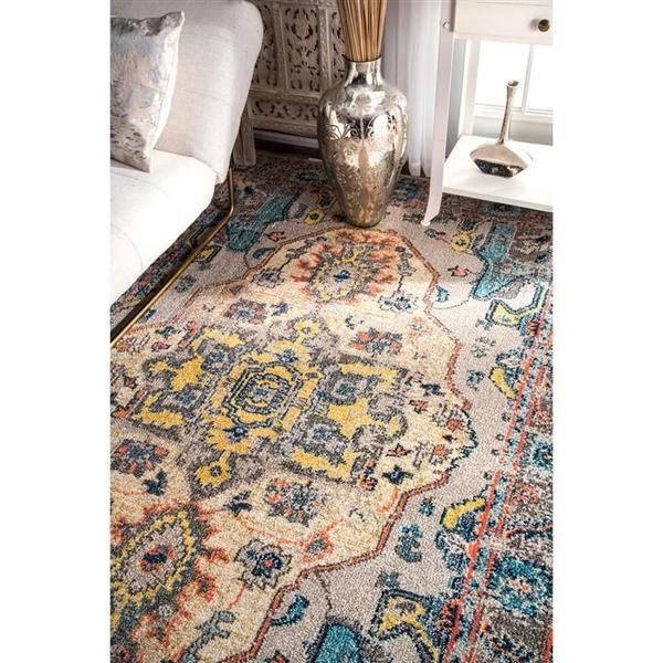 nuLOOM Corbett 5-ft x 8-ft Blue Handcrafted Area Rug