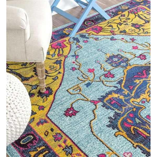 nuLOOM 5-ft x 8-ft Multi-Color Janella Area Rug