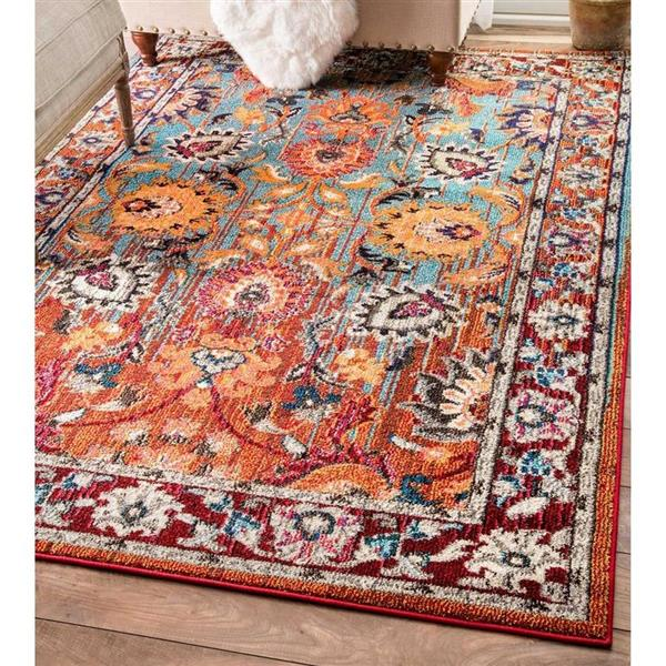 nuLOOM Mallory 5-ft x 8-ft Rectangular Multicolor Indoor Area Rug