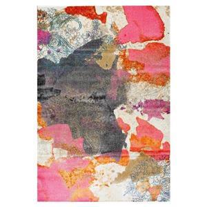 nuLOOM Gresham 7-ft x 9-ft Pink Rectangular Indoor Area Rug