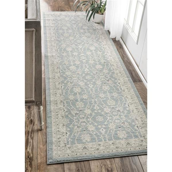 nuLOOM Wharton 5-ft x 8-ft Rectangular Blue Indoor Area Rug