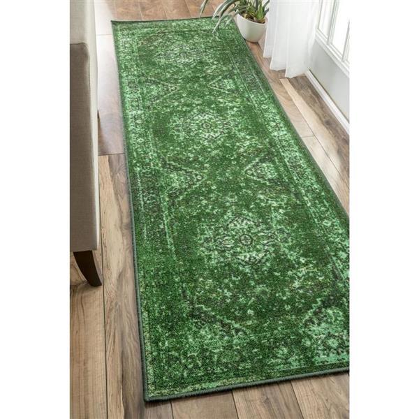 nuLOOM Reiko 5-ft x 8-ft Rectangular Green Indoor Area Rug