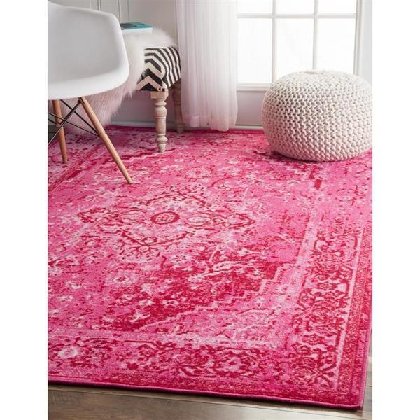 nuLOOM Reiko 5-ft x 8-ft Rectangular Pink Indoor Area Rug