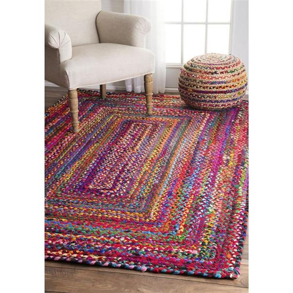 nuLOOM Tammara 7-ft x 9-ft Multi-Colored Oval Indoor Handcrafted Area Rug