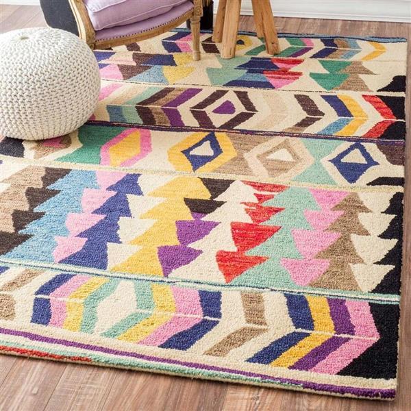 nuLOOM Ofelia 4-ft x 6-ft Rectangular Multicolor Indoor Area Rug