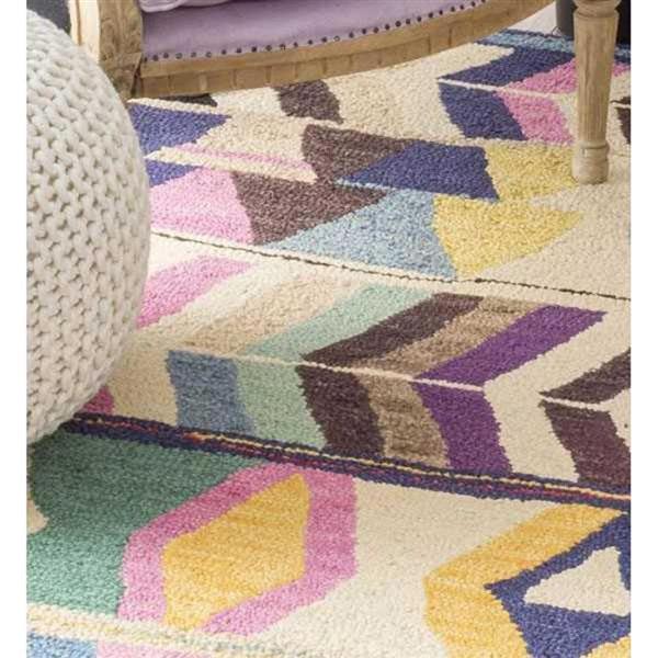nuLOOM Ofelia 5-ft x 8-ft Rectangular Multicolor Indoor Area Rug
