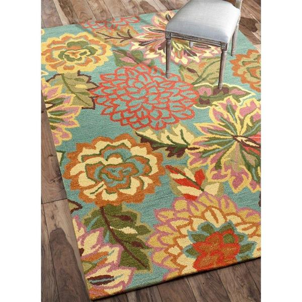 nuLOOM Modella 5-ft x 8-ft Rectangular Multicolor Indoor Floral Area Rug
