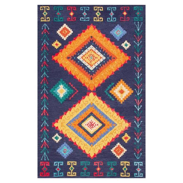 nuLOOM Demetrai 5-ft x 8-ft Blue Handcrafted Kids Area Rug