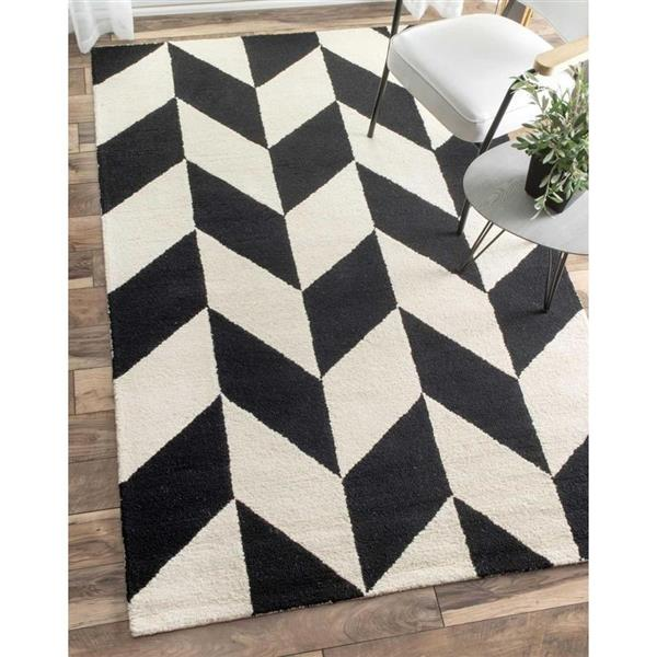 nuLOOM Katte 5-ft x 8-ft Black/White Area Rug