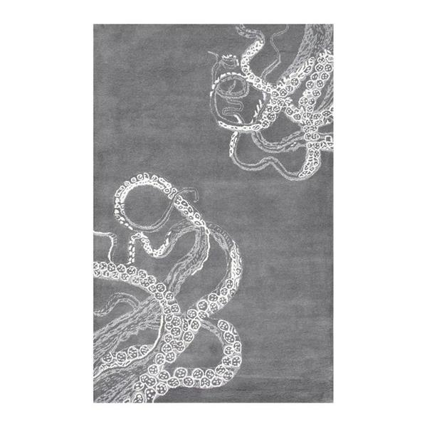 nuLOOM Octopus Tail 4-ft x 6-ft Rectangular Gray Indoor Area Rug