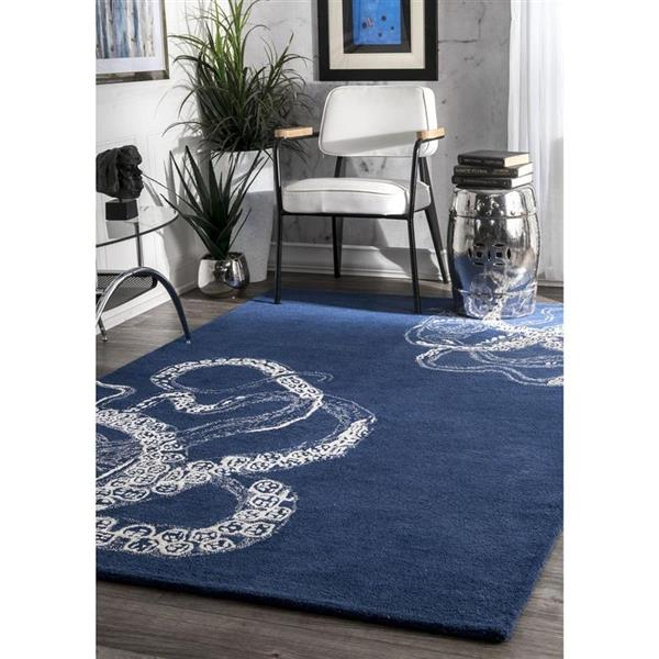 nuLOOM Octopus Tail 5-ft x 8-ft Rectangular Navy Indoor Area Rug