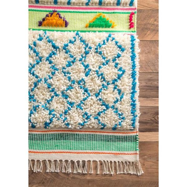 nuLOOM Yelena 8-ft x 10-ft Rectangular Blue Indoor Kids Area Rug