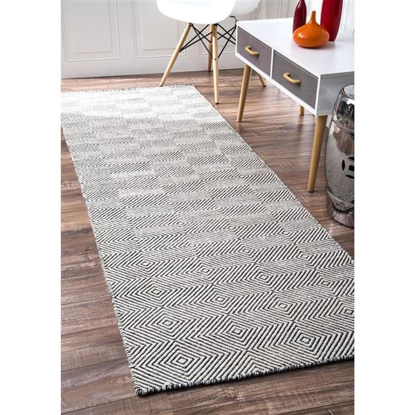 nuLOOM 8-ft x 10-ft Handcrafted Cream Ago Indoor Area Rug