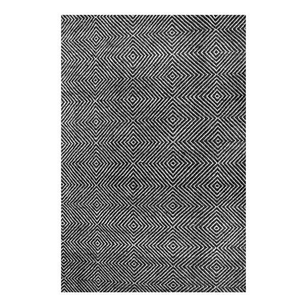 nuLOOM 8-ft x 10-ft Handcrafted Black Ago Indoor Area Rug