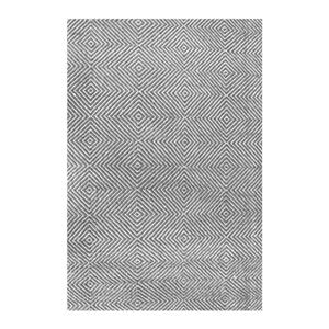 nuLOOM 6-ft x 9-ft Handcrafted Gray Ago Indoor Area Rug