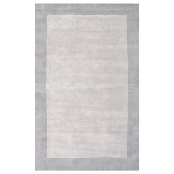 nuLOOM Varanas 6-ft x 9-ft Rectangular Gray Indoor Paine Area Rug