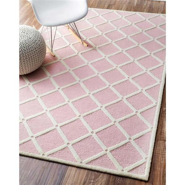 nuLOOM Takako 5-ft x 8-ft Pink Rectangular Indoor Handcrafted Kids Area Rug