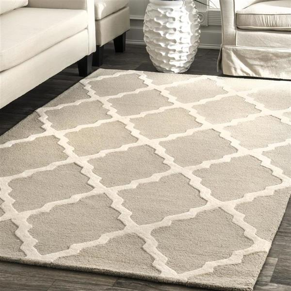 nuLOOM Marrakesh 6-ft x 9-ft Rectangular Tan Indoor Area Rug