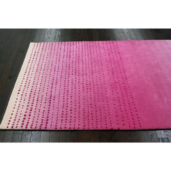 nuLOOM Dcor 5-ft x 8-ft Pink Handcrafted Area Rug
