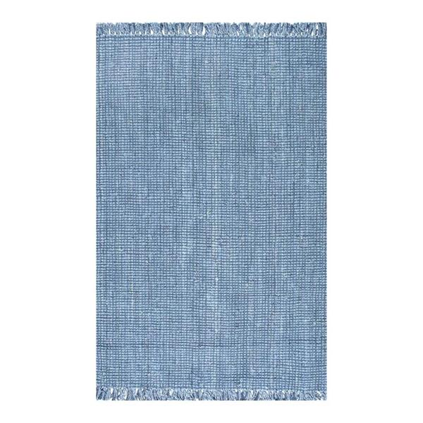 nuLOOM Chunky Loop 5-ft x 8-ft Blue Handcrafted Area Rug