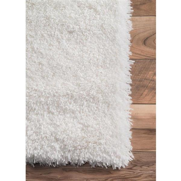 nuLOOM Gynel 7-ft x 9-ft White Rectangular Indoor Kids Area Rug
