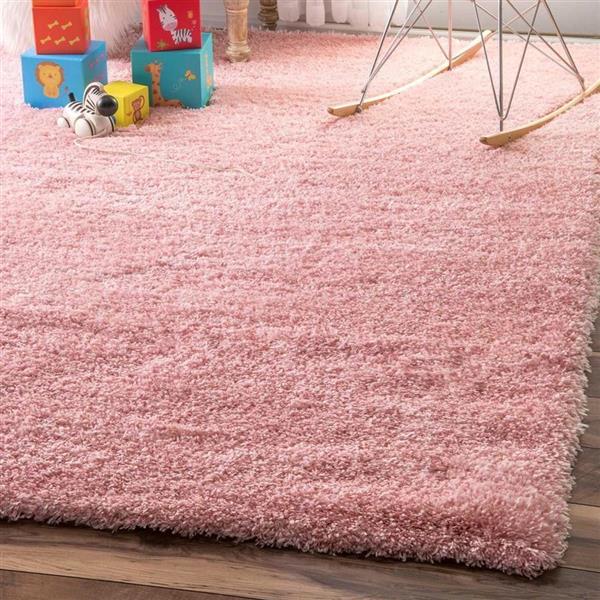 nuLOOM Gynel 7-ft x 9-ft Pink Rectangular Indoor Kids Area Rug