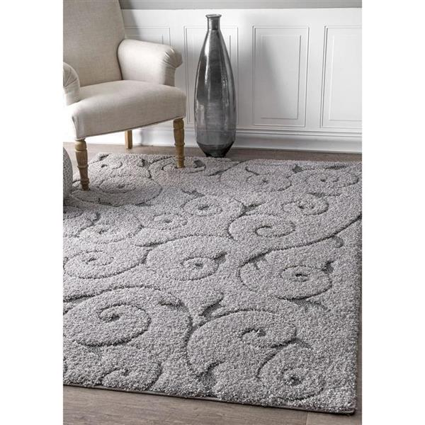 nuLOOM Maisha 7-ft x 9-ft Rectangular Gray Indoor Area Rug