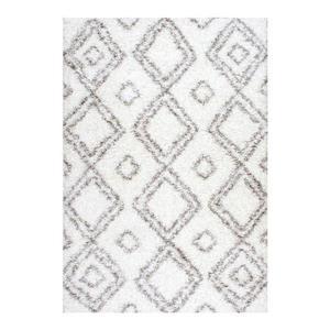 nuLOOM Iola 5-ft x 8-ft White Easy Shag Area Rug
