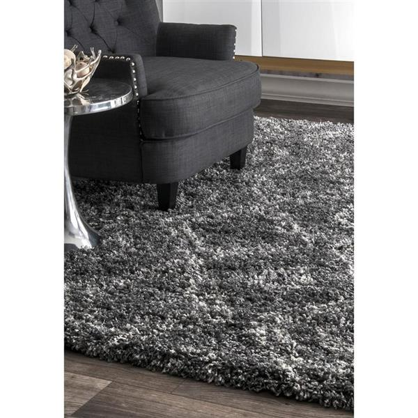 nuLOOM Iola 7-ft x 9-ft Grey Easy Shag Area Rug