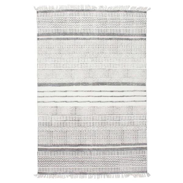 nuLOOM Raina 5-ft x 8-ft Rectangular Gray Indoor Area Rug