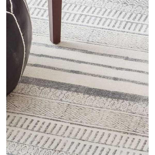 nuLOOM Raina 8-ft x 10-ft Rectangular Gray Indoor Area Rug
