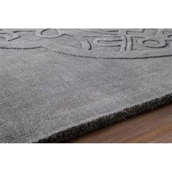 nuLOOM Strother 5-ft x 8-ft Gray Rectangular Indoor Handcrafted Area Rug
