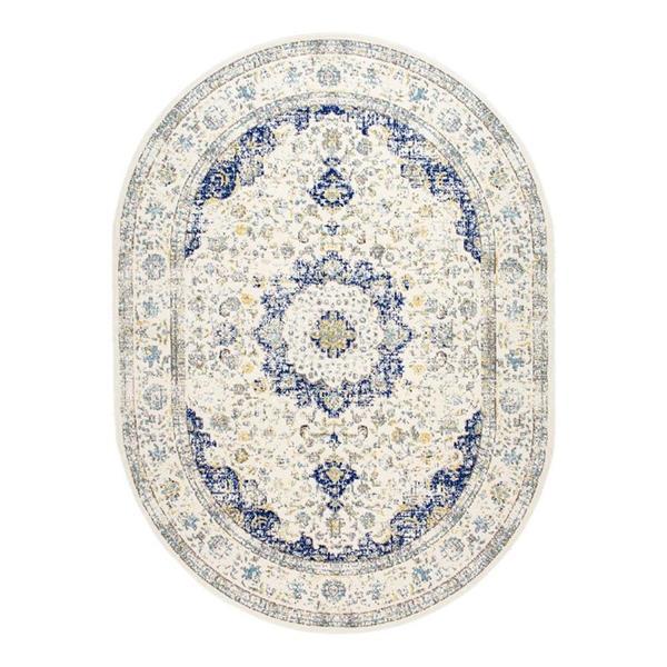 nuLOOM Bodrum 7-ft x 9-ft Oval Blue Indoor Verona Area Rug