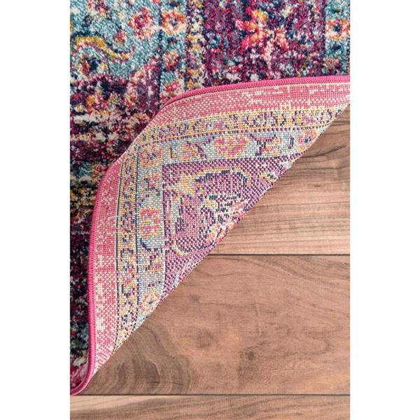 nuLOOM Verona 5-ft x 8-ft Rectangular Pink Indoor Area Rug