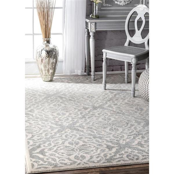 nuLOOM Contessa 5-ft x 8-ft Grey Handcrafted Area Rug
