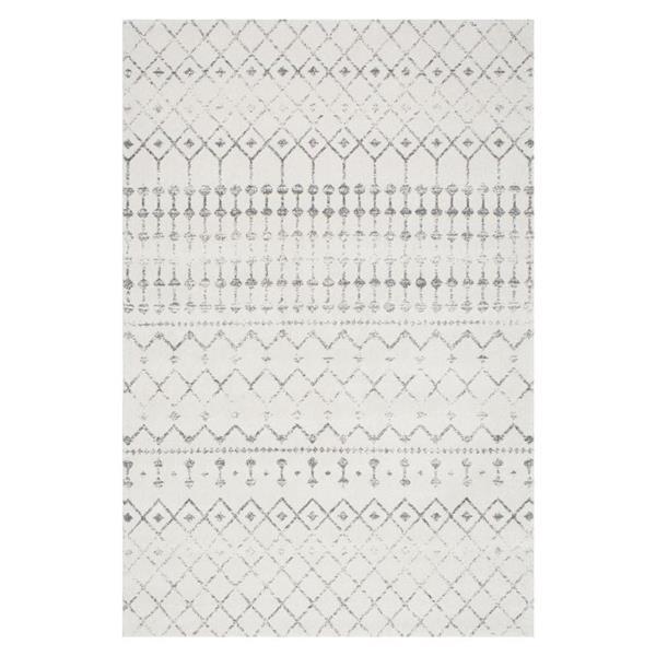 nuLOOM Blythe 5-ft x 8-ft Rectangular Gray Indoor Area Rug