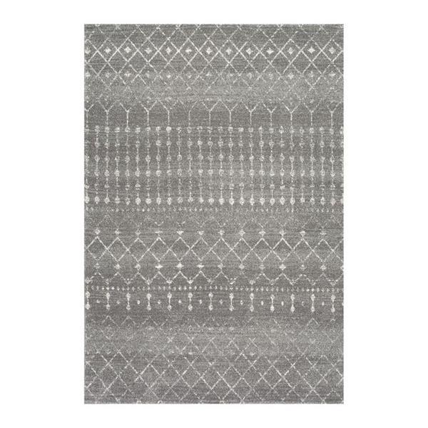 nuLOOM Blythe 5-ft x 8-ft Rectangular Dark Gray Indoor Area Rug